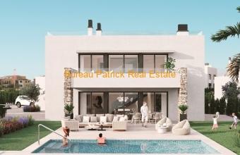 ESPMI/AF/002/34/20F12/00000, Majorque, Es Trenc, villa de nouvelle construction avec piscine, jardin et garage à vendre